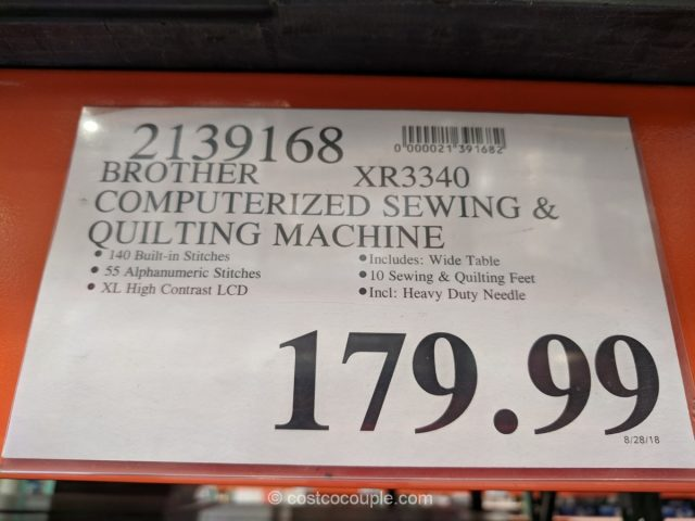 Brother XR3340 Sewing Machine Costco