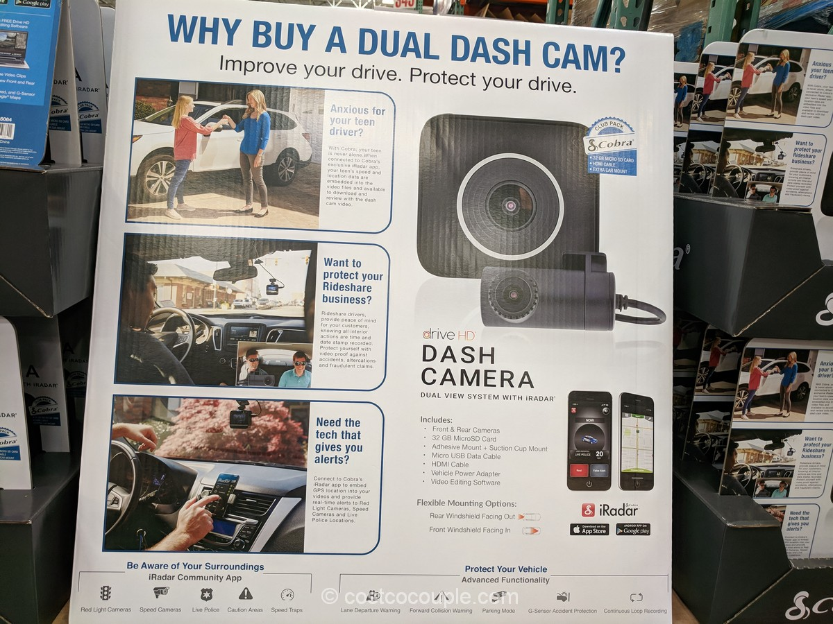 Cobra Electronics Drive HD Dual View Dash Camera