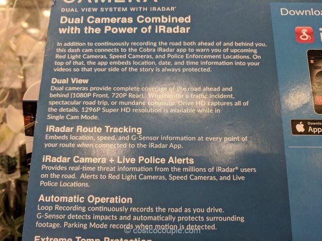 Cobra Electronics Drive HD Dual View Dash Camera Costco