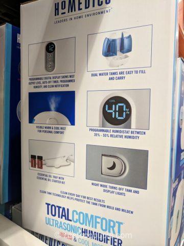 Homedics Ultrasonic Humidifier