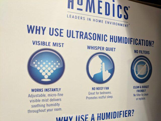 Homedics Ultrasonic Humidifier Costco