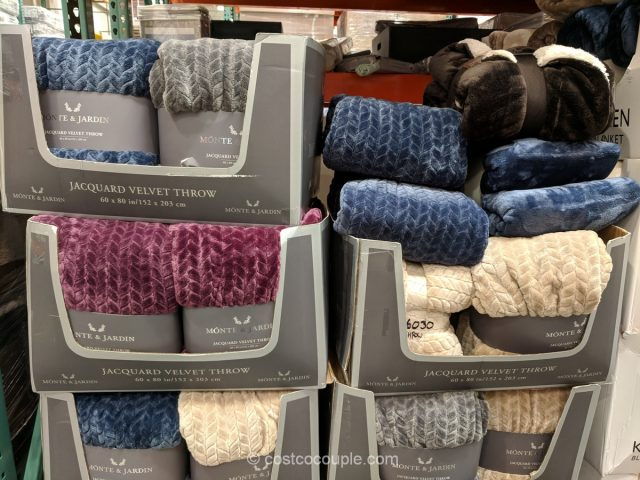 Monte & Jardin Jacquard Velvet Throw Costco