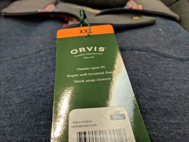Orvis Mens Signature Fleece Pullover Costco