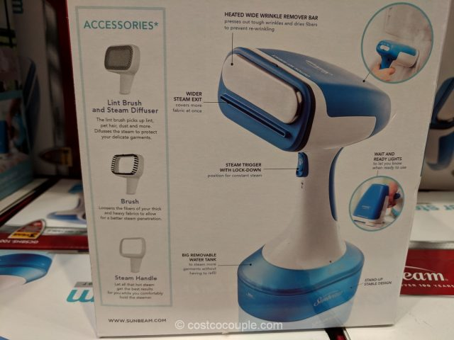 Sunbeam Handheld Fabric Steamer Costco