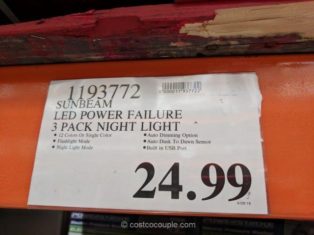 Sunbeam LED Power Failure Night Light Costco