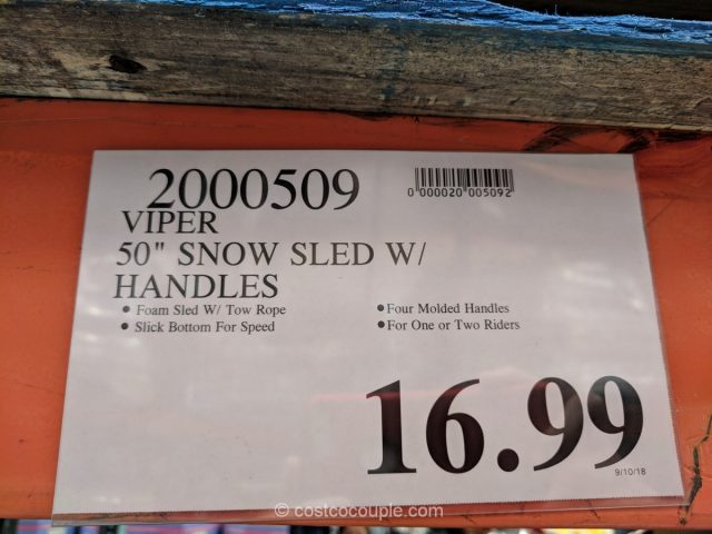 Viper 50-Inch Snow Sled Costco