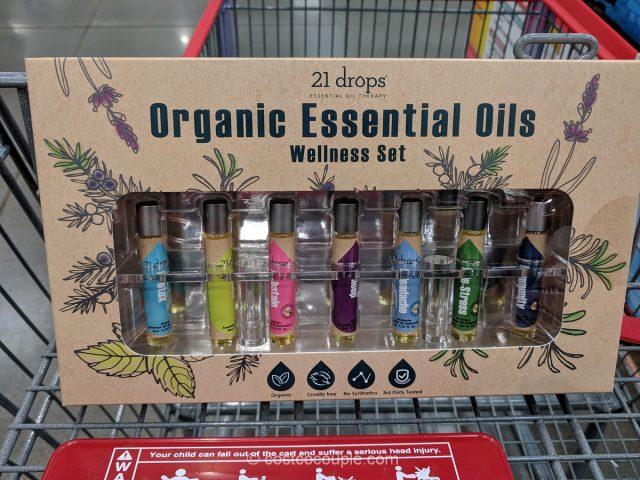 21 Drops Organic Essential Oils Wellness Set Costco
