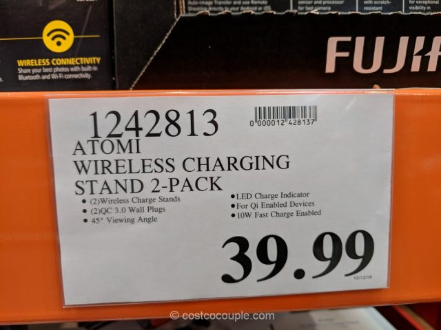 Atomi Qi Wireless Charging Stand Costco