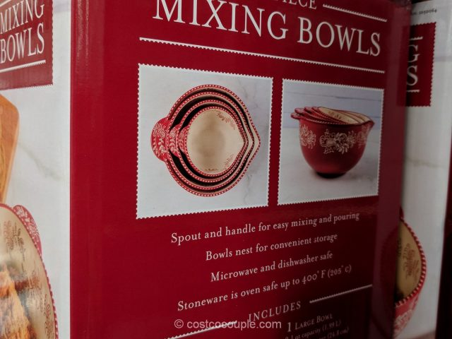 Baum 4-Piece Ceramic Mixing Bowls Costco