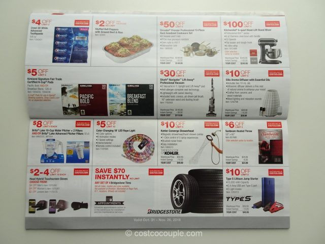 Costco November 2018 Coupon Book 10/31/18 to 11/26/18