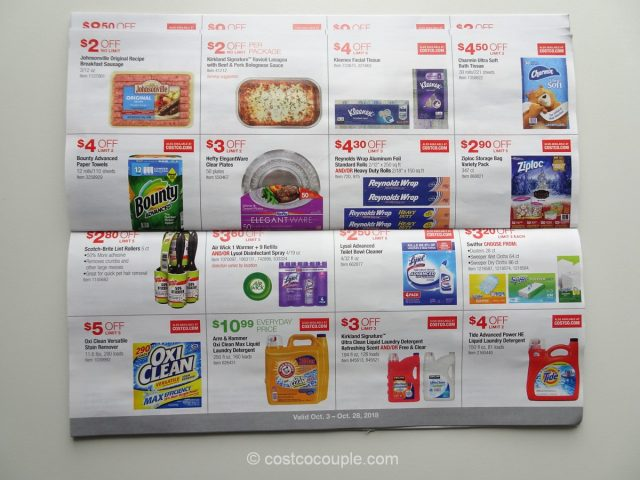 Costco October 2018 Coupon Book 10/03/18 to 10/28/18