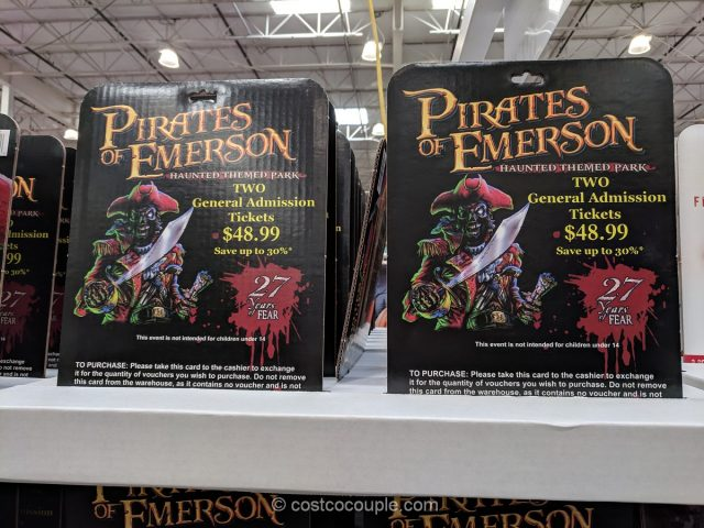 Gift Card Pirates of Emerson General Admission Costco