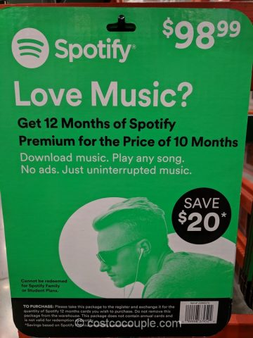 Spotify Gift Card Costco