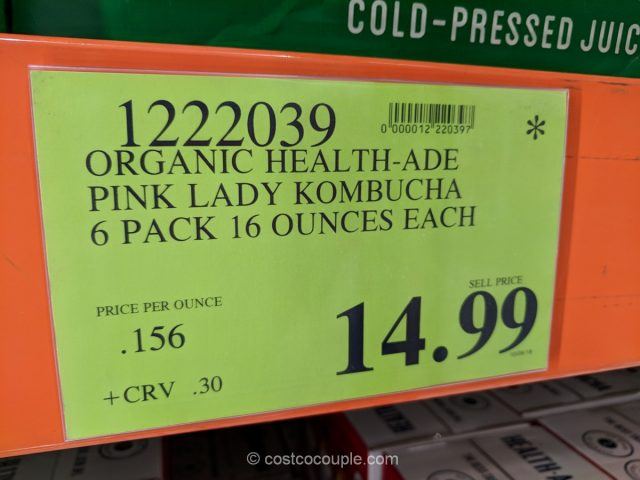 Health-Ade Organic Pink Lady Kombucha Costco
