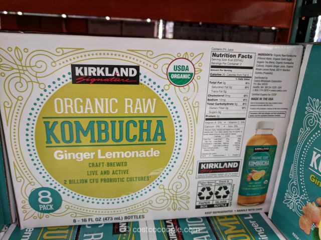 Kirkland Signature Organic Raw Ginger Lemonade Kombucha