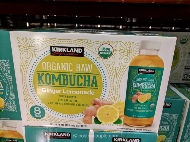 Kirkland Signature Organic Raw Ginger Lemonade Kombucha Costco