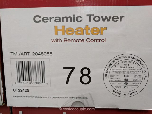 Lasko Ceramic Tower Heater Costco
