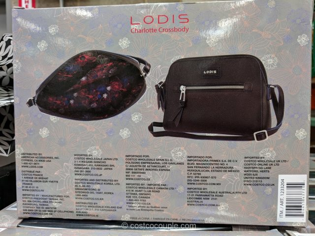 Lodis Charlotte Crossbody Leather Handbag Costco