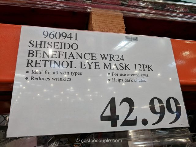 Shiseido Benefiance WrinkleResist24 Retinol Eye Mask Costco