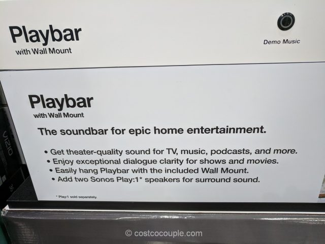Sonos Playbar with Wall Mount Costco