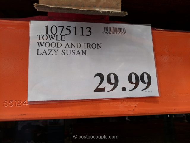 Towle Wood and Iron Lazy Susan Costco