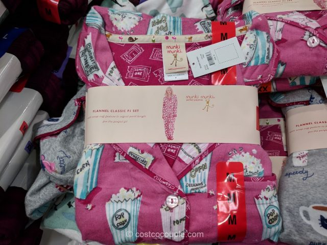 Munki Munki Ladies Flannel PJ Set Costco