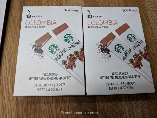 Starbucks VIA Instant Colombian Coffee Costco