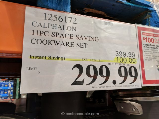 Calphalon 11-Piece Space Saving Set Cookware Set Costco
