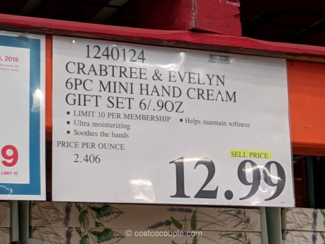 Crabtree and Evelyn Mini Hand Cream Set Costco