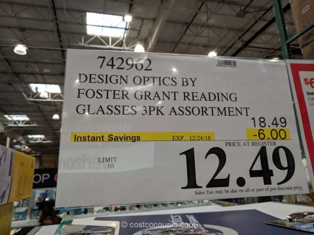 Design Optics By Foster Grant Reading Glasses Costco