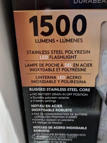 Duracell 1500 Lumen Flashlight Costco
