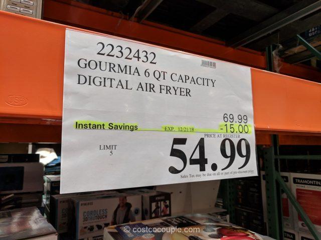 Gourmia Digital Air Fryer Costco
