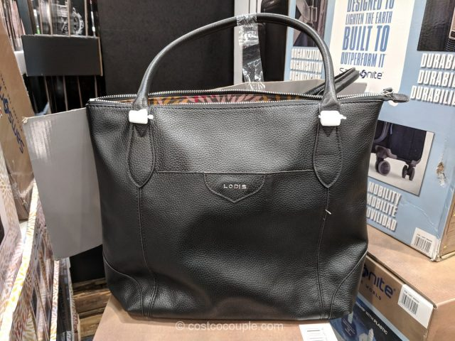 Lodis Siera Leather Tote Costco