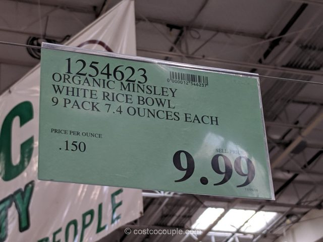Minsley Organic Cooked White Rice Costco