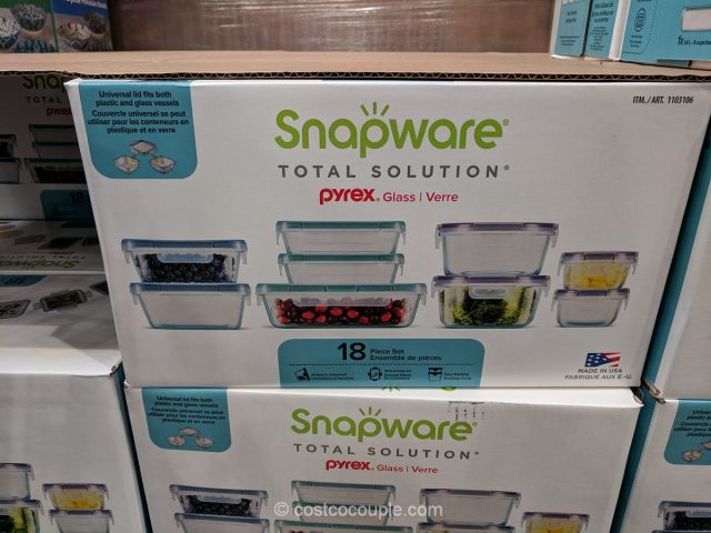 Snapware Pyrex 18-Piece Food Storage Set Costco