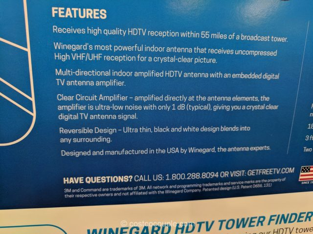 Winegard Flatwave Indoor Amplified HDTV Antenna Costco