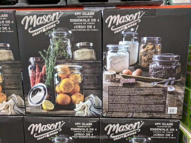4-Piece Oversized Mason Jars Costco