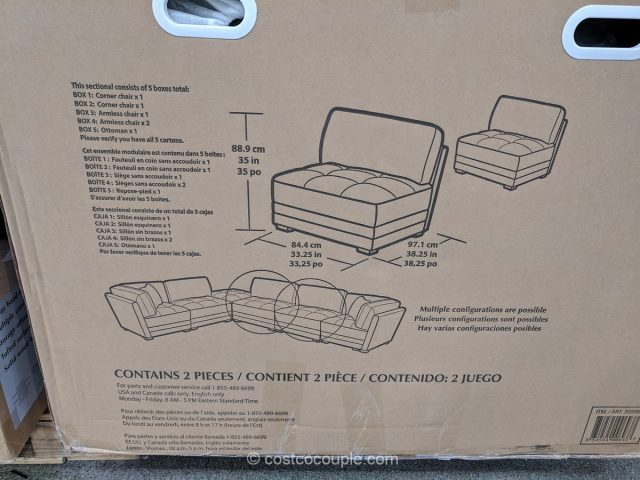 6-Piece Fabric Modular Sectional Costco