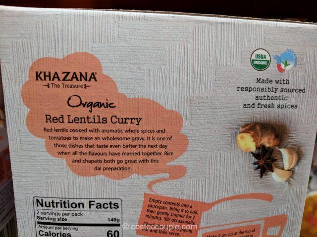 Khazana Organic Red Lentils Curry Costco