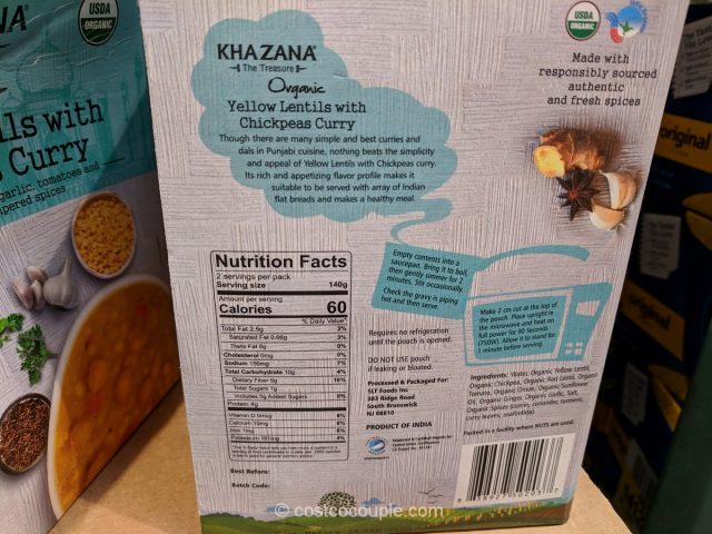 Khazana Organic Yellow Lentils with Chickpea Curry Costco