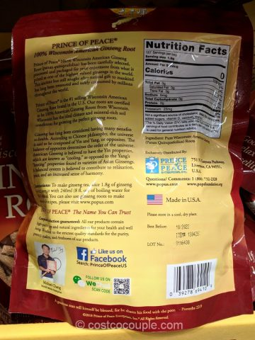Prince of Peace American Ginseng Root Costco
