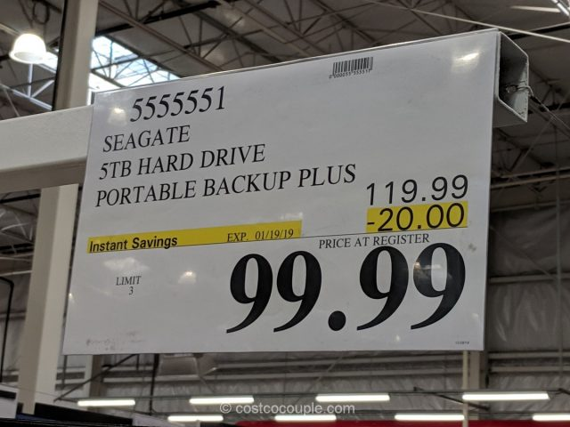Seagate 5TB Portable Backup Plus Costco