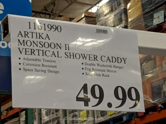 Artika Monsoon II Shower Caddy Costco