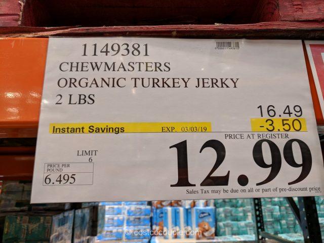 Chewmasters Organic Turkey Jerky Costco