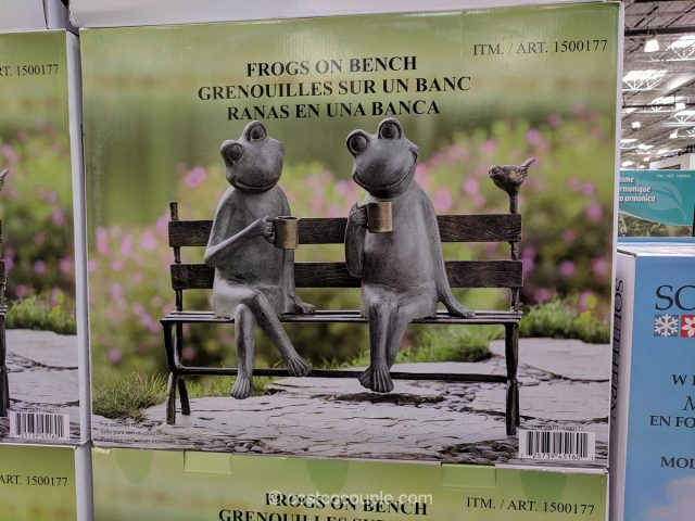 Frogs on Bench Costco