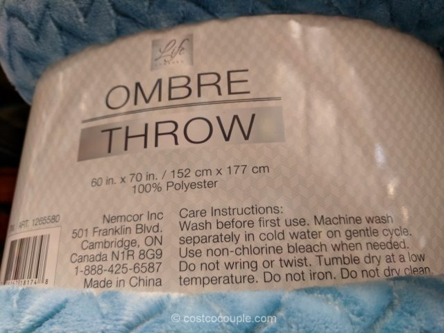 Life Comfort Ombre Throw Costco