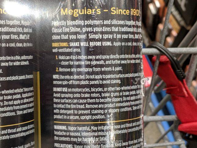 Meguiars Tire Shine Costco
