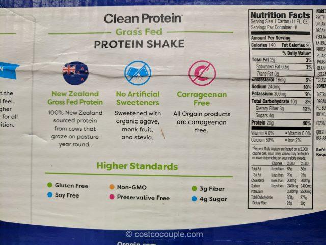Orgain Clean Protein Shake Costco