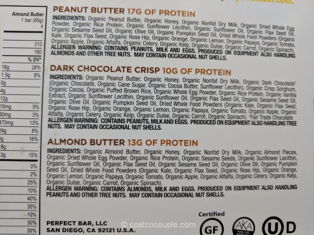 Perfect Bar Refrigerated Organic Protein Bars