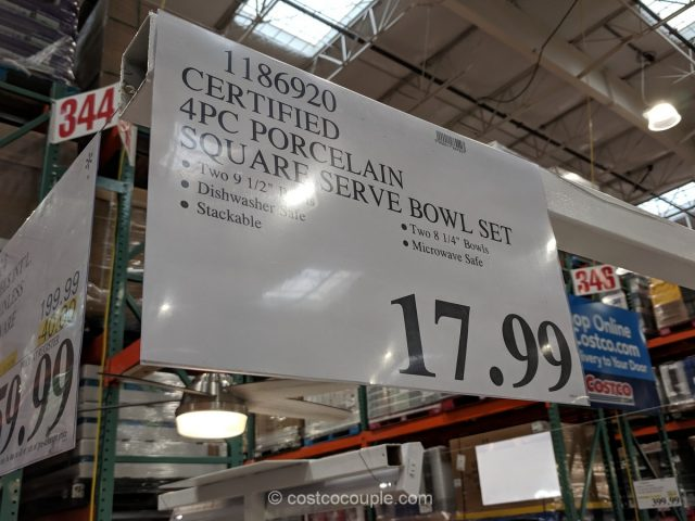 Certified 4-Piece Porcelain Serving Bowl Set Costco